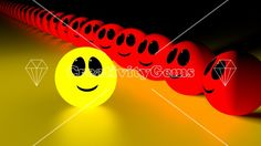 Stand out from the crowd yellow smiling face – CreativityGems