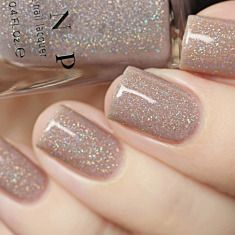 Bright Summer Acrylic Nails Discover Manor House - Taupe Holographic Sheer Jelly Nail Polish by ILNP Nagellack Design, Jelly Nails, Dipped Nails, Nagel Gel, Nail Polish Colors, Glitter Nail Polish, Nude Nails With Glitter, Gel Polish, Glitter Gel Nails