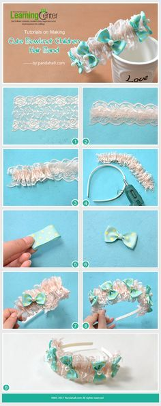 This hair accessory is made of ribbons, lace trim nylon string threads and pearlized glass beads, which is great for the children girls to be more beautiful!