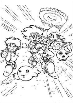 Digimon Tegninger til Farvelægning. Printbare Farvelægning for børn. Tegninger til udskriv og farve nº 6