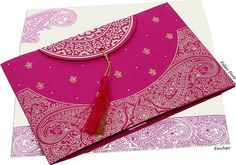 Find the hindu wedding invitations, hindu wedding cards with specific accessories on cheap rate onlne. Find the unique design of wedding card from catalogue. Indian Wedding Invitation Cards, Wedding Invitation Card Design, Indian Wedding Invitations, Pink Invitations, Wedding Stationery, Invitation Ideas, Invitation Templates, Housewarming Invitation Cards, Housewarming Party