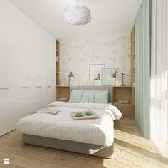 """Mieszkanie 64 m2 z """"loftowym"""" akcentem. - Średnia sypialnia małżeńska, styl skandynawski - zdjęcie od 4ma projekt"""