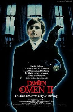 Damien The Omen II movie poster Best Horror Movies, Cult Movies, Horror Films, Scary Movies, Good Movies, Suspense Movies, Cinema Movies, Comedy Movies, Horror Art