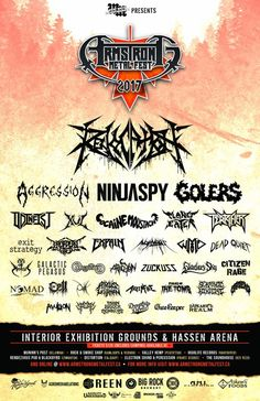 ARMSTRONG METAL FEST 2017 Line Up! #Armstrongmetalfest2017, #ninjaspy, #Aggression, #Angelmaker, #Apollyon, #Arkenfire, #Atrous #Leviathan, #Cell, #CitizenRage, #CocaineMoustache, #DahlmersRealm, #DeadQuiet, #DragstripsDevils, #DropDeadFred, #ExitStrategy,#Expain,#EyeofHorus, #GalacticPegasus, #Gardener, #Gatekeeper, #GladiusSky, #Golers, #Ninjaspy, #Nomad, #Odinfist, #Ossific, #PlanetEater, #Revocation, #SerephicNihilist, #Slagduster, #Spore, #TalesofTheTomb, #Terrifier, #TheAvulsion…
