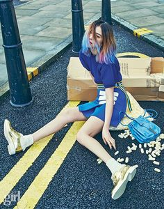 """On the Town"" Irene Kim for Vogue Girl April 2015. Photographed by Kim Hee June"