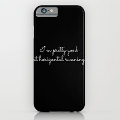 horizontal running #1 iPhone & iPod Case