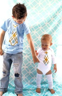 precious.  I shall make my boys something similar.  BC at this point, I still can :)  Soon they will tell me what they will & won't wear & I'm sure matchy-matchy will be a big won't.