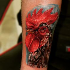 Realistic Rooster tattoo