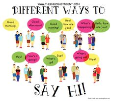 The English Student, www.theenglishstudent.com, English Student, ESL blog, different ways to say hi in English, ESl saying Hi, ESL conversation, What does what's up mean, ESl slang, ESL greetings