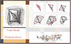 Mangle-Tangle Pattern by molossus, who says Life Imitates Doodles, via Flickr