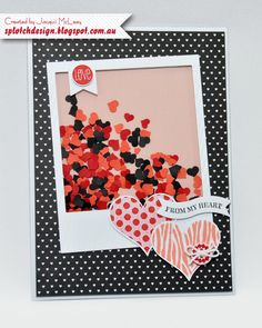 Splotch Design - Jacquii McLeay - Stampin Up - Valentines Day Shaker Card