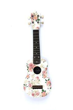 -Get a floral ukulele