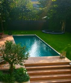 Shipping Container Swimming Pool, Swimming Pools Backyard, Swimming Pool Designs, Pool Landscaping, Small Swimming Pools, Indoor Pools, Inexpensive Landscaping, Swiming Pool, Lap Pools