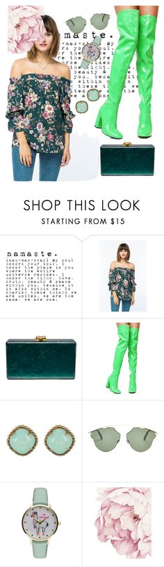 """""""2021"""" by alma202 ❤ liked on Polyvore featuring Edie Parker, Current Mood, Sorrelli, Christian Dior and Geneva"""