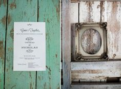 Great picture of invitation at The Wayfarer. www.WhidbeyIslandWedding.com