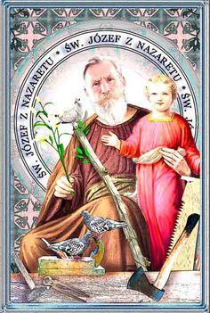 św. Józef zNazaretu, Oblubieniec Maryi Holy Family, Family Love, Catholic Saints, St Joseph, Blessed, Princess Zelda, Amen, Fictional Characters, Saint Joseph