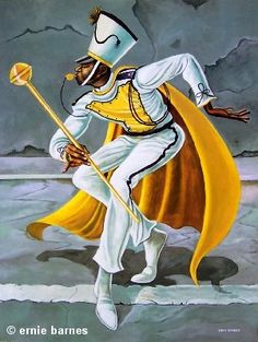 """The Drum Major"" by Ernie Barnes - Featured Art Print"