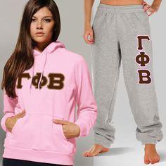 Gamma Phi Beta Sorority Hoody and Sweatpant Package $52.99 #Greek #Sorority #Clothing #GPhiB #GammaPhiBeta