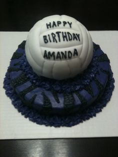 My daughter's bday cake. Yes, the volleyball is actual cake!