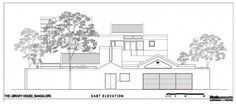 Architecture:Second Level House Design Idea Exterior Plan Scheme Facade With Wast Elevation The Library House Bangalore India Architecture D...