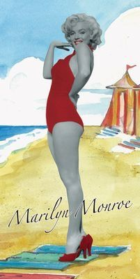 edc652b7117a6 Amazon.com: Marilyn Monroe At The Beach Towel: Classic Movie 100% Cotton  Accessory: Home & Kitchen