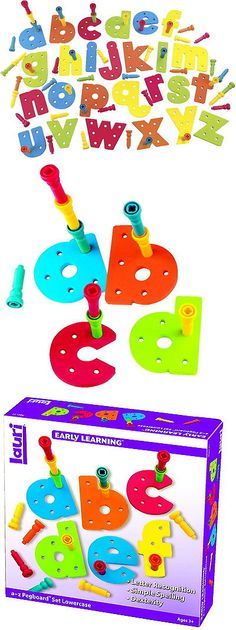 Other Alphabet and Language Toys 11732: Lauri Toys Tall-Stacker A To Z Pegboard Set -> BUY IT NOW ONLY: $44.49 on eBay!