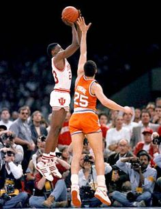 In your face Syracuse! Keith Smart's game-winning shot - One of my favorite sports moments certainly my favorite moment while I was at Indiana University - GO Hoosiers! Let's win the Championship this year. Syracuse Basketball, Indiana Basketball, Basketball History, I Love Basketball, Basketball Legends, College Basketball, Basketball Players, Nba Basketball, Basketball Compression Pants