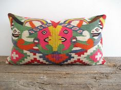 Pillow Cover Aztec Antique Kilim Tribal by theCottageWorkroom
