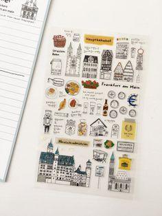 Frankfurt Stickers Sheet // Planner Stickers // Scrapbooking embellishment // DIY essentials