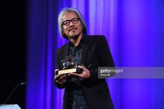 Director Lav Diaz receives the Golden Lion for Best Film for 'The Woman who Left…