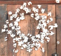 Cotton Boll Wreath - super cute from my favorite store - The Alabama Gift Company
