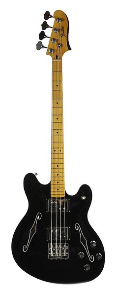 Fender Starcaster Bass Black - Never even seen one. I have to say, I'm really not sure about the asymmetric body, when you add the 'f' holes and it looks like it's starting to melt...K