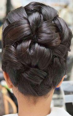 Wow Dance Hairstyles, Formal Hairstyles, Pretty Hairstyles, Braided Updo For Short Hair, Bridal Hairdo, Hairdo Wedding, Ballroom Hair, Hair Due, Cut My Hair