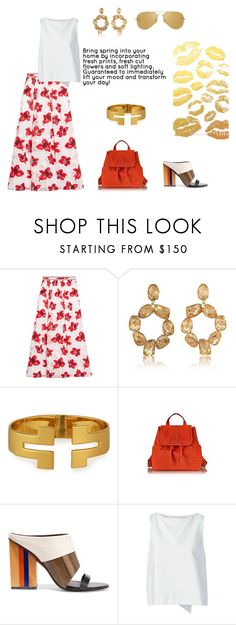 """""""KissKiss."""" by schenonek ❤ liked on Polyvore featuring Tory Burch, Golden Goose and Ray-Ban"""