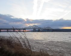 Tappan Zee Bridge over the Icy Cold Hudson River.