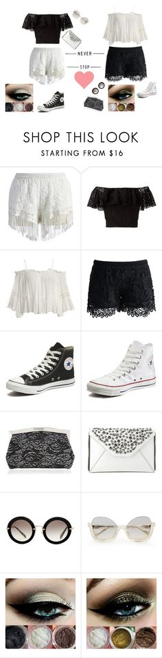 """""""Be Your Self"""" by winchester2239 on Polyvore featuring Chicwish, Philosophy di Lorenzo Serafini, Sans Souci, Converse, Nina, Diane Von Furstenberg and Miu Miu"""