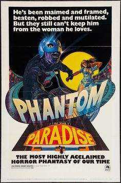 """Phantom of the Paradise"" (1974) Country: United States. Director: Brian De Palma. Cast: Paul Williams, Jessica Harper, William Finley"