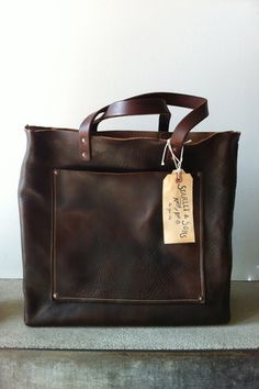 Stanley & Sons Leather Tote- I know a guy, that knows how to work with leather.