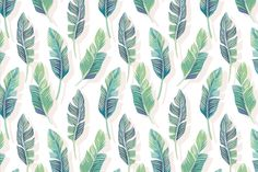 Provide the perfect background as your guests and family spend time in the living room with our White and Green Tropical Leaf Wallpaper.