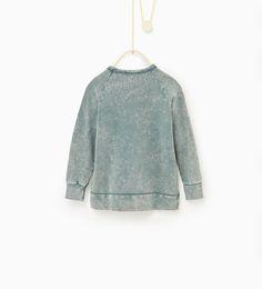 ZARA - KIDS - Plush patches sweatshirt