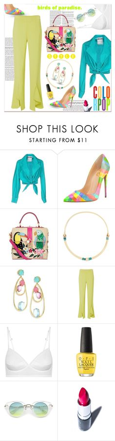 """""""Birds..."""" by nihal-imsk-cam ❤ liked on Polyvore featuring Moschino, Dolce&Gabbana, Pamela Love, Ippolita, JULIANNE, OPI and Manic Panic NYC"""