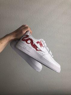 Custom Painted Shoes, Custom Shoes, Custom Sneakers, Sneakers Nike, Custom Af1, Custom Air Force 1, New Nike Shoes, Nike Outfits, Casual Outfits