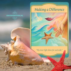 'Making a Difference': You are making a difference in the lives of others. In ways that you may not even know, many benefit because of you. Your light radiates far and wide.  The Universe wants you to know: sometimes the smallest actions can have the greatest impact.   Deck: Gateway Oracle Cards - Denise Linn  ♡ http://www.shivohamyoga.nl/ #inspiration #oracle #advaita #loveandlight #love #yoga #wisdom #ShivohamYoga #namaste #metaphysical #tarot #mindfulness #esoteric #healing #indigo…