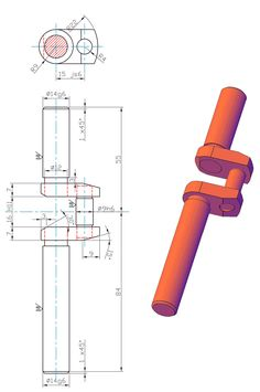 Resultado de imagen de meccanica disegni Drawing Pin, Drawing Practice, Autocad, Drawing Exercises, Mechanical Design, 3d Design, My Drawings, Technical Drawings, Design Inspiration
