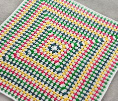 Crochet Pattern: Solid Granny Square Blanket