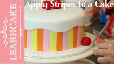 How to Add Stripes to a Fondant Cake
