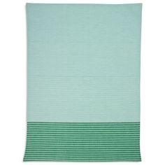 Green Tri-Stripe Kitchen Towel | Sur La Table