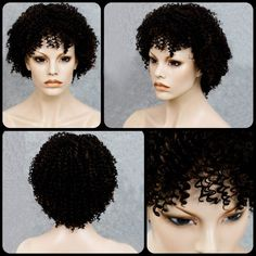 Stylish Black Mixed Synthetic Shaggy Afro Curly Women's Capless Wig #>=#>=#>=#>=#> Click on the pin to check out discount price, color, size, shipping, etc. Save and like it!