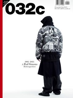032c Fall/Winter 2014 Cover, 1995-2015 Raf Simons Retrospective ph: Willy Vanderperre, featuring A/W 2001