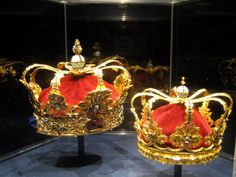A set of Danish crown jewels, dating from the 1700's, at Rosenburg Slot.